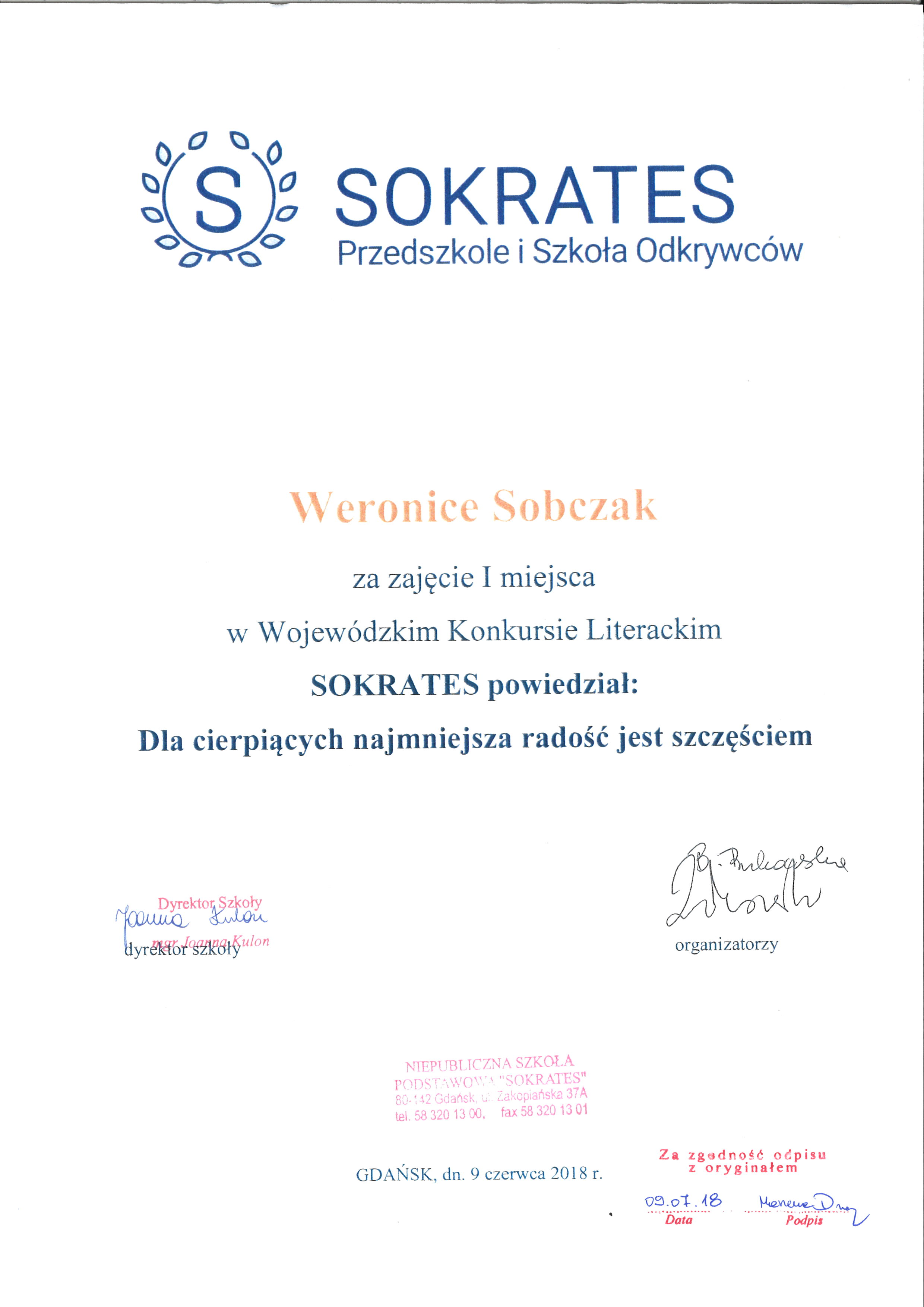 Wojewódzki Konkurs Literacki