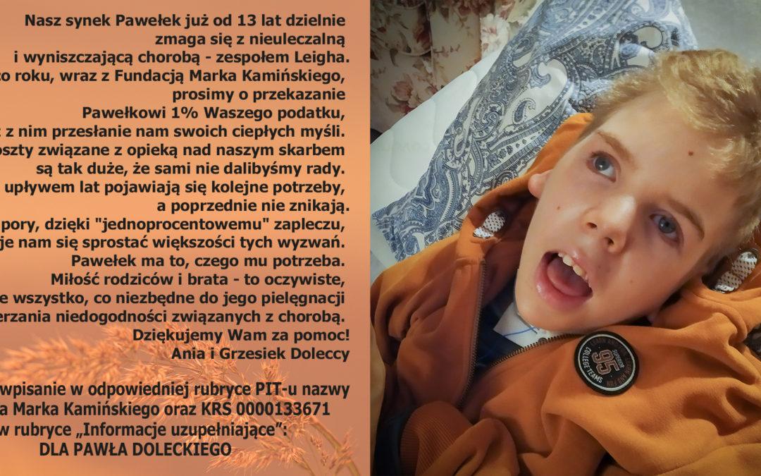 1% podatku dla Pawełka Doleckiego